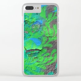 Green Entropy II Clear iPhone Case