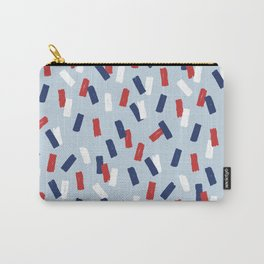 American confetti party minimal paper strokes 4th of July celebration pattern blue Carry-All Pouch