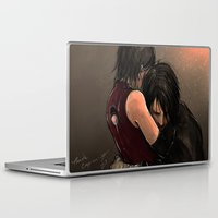 sasuke Laptop & iPad Skins featuring You with the sad eyes by PandaCapuccino