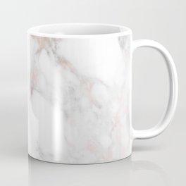 Rose Gold Marble Blush Pink Metallic Foil Coffee Mug