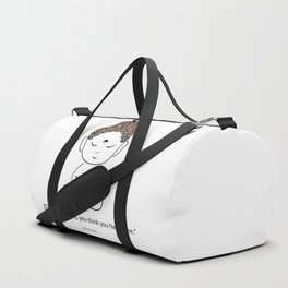 Buddha with a proverb about time Duffle Bag