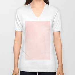 Seashell Pink Watercolor Unisex V-Neck