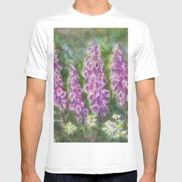Foxgloves in the Spring Garden by Marianne Fadden T-shirt