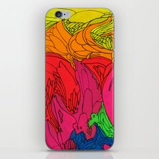 Neon Swirl iPhone Skin
