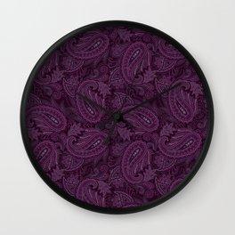 Meredith Paisley - Purple Wall Clock