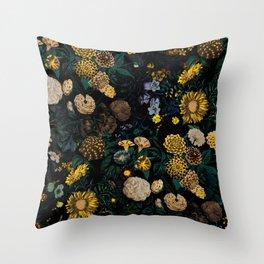 EXOTIC GARDEN - NIGHT II Throw Pillow