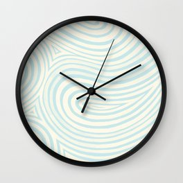 Waves in Light Teal Wall Clock
