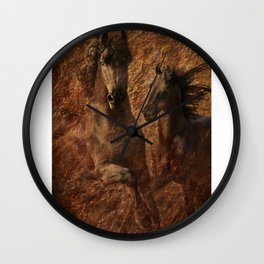 The Spirit of Black Sterling Wall Clock