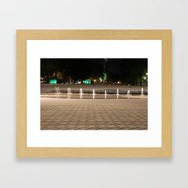 City Fountain Water Park Framed Art Print