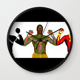 Black Men and Their Chains Wall Clock