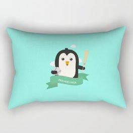 Baseball Penguin from PHILADELPHIA T-Shirt Rectangular Pillow