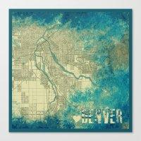 denver Canvas Prints featuring Denver by Brandi Fitz Arts