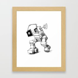 THUMBATRON for dark tees Framed Art Print