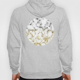Black and white marble gold sparkle flakes Hoody