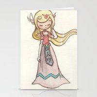 zelda Stationery Cards featuring Zelda by malipi
