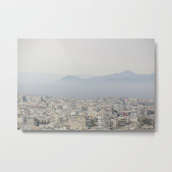 Haze Over Athens Metal Print