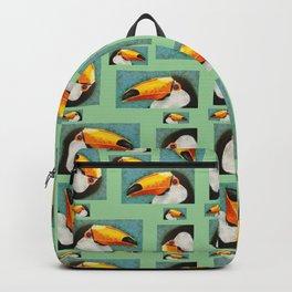 Colorful Toucan portrait Backpack