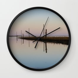 Looking out to Lindisfarne Wall Clock