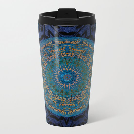 Ornament Pattern Mandala Metal Travel Mug