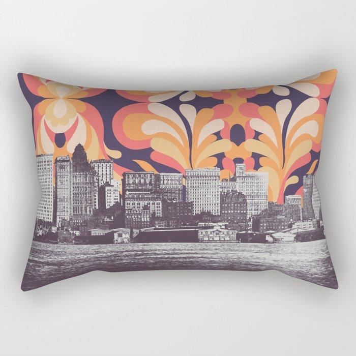 Colorful Sky Above New York Rectangular Pillow