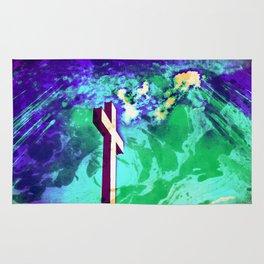 Holy Cross Purple & Green Rug