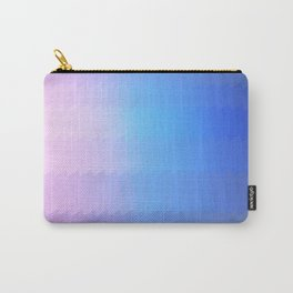 blue pink ombre color gradient abstract pattern Carry-All Pouch