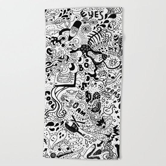 cute graphite  Beach Towel