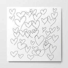All hearts Metal Print