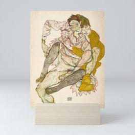 "Egon Schiele ""Seated Couple"" Mini Art Print"
