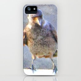 Jackdaw Watercolor iPhone Case