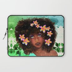 Plumeria girl Laptop Sleeve