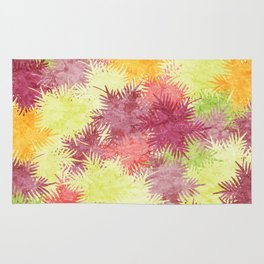 Tropical Fan Palm Paradise – Colorful #04 Rug