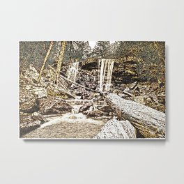 Waterfall, Valley Falls, Fairmont, WV Metal Print