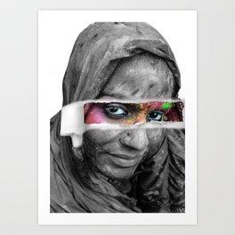 Holi Festival - Photo Manipulation Art Print