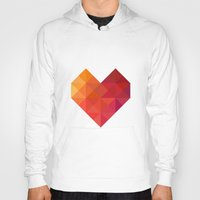 coffe Hoodies featuring Heart by Dizzy Moments