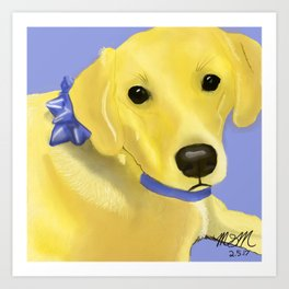 Warholesque Dog Art Print