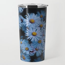 Blue Asters Travel Mug