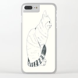 neko Clear iPhone Case