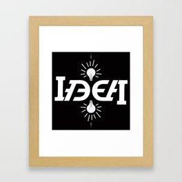"""""""bright Idea"""" Framed Art Print"""
