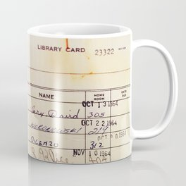 Library Card 23322 Coffee Mug