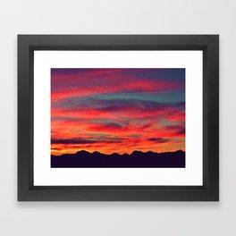 The sky is on fire Framed Art Print