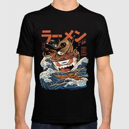The black Great Ramen T-shirt
