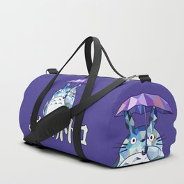 Kawaii Purple Ghibli Duffle Bag