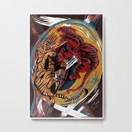 Rise with Tigers (Macbeth) Metal Print