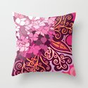 zentangle inspired Hortensia_rose pink doodle by camcreative