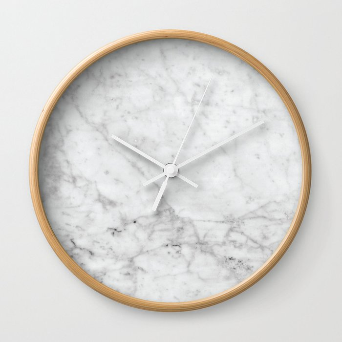 White Marble - #629 Wall Clock