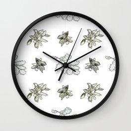 Quercus (browns) Wall Clock