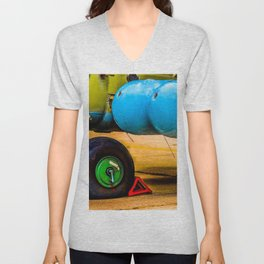 Landing Wheel Of A Military Attack Helicopter Unisex V-Neck