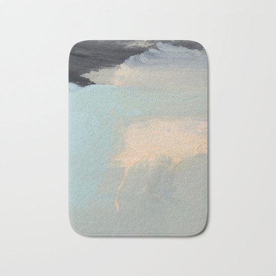 minimal brushtrokes 2 Bath Mat