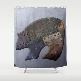 Rusty Bear Metals Shower Curtain